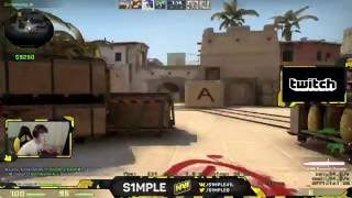 S1mple Easily Carry Himself to Global Elite
