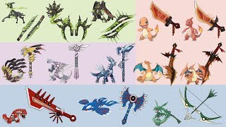 Top Amazing Pokemon as Weapons fanart compilation #2