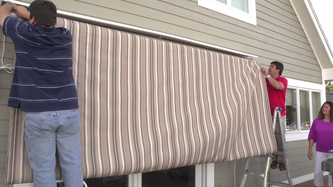Replacing A Retractable Awning S Fabric Removal