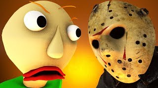 BALDI vs JASON Voorhees (Friday 13 horror game 3D animation)