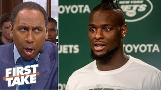 'Don't go to the Jets and talk about a Super Bowl!' - Stephen A. calls out Le'Veon Bell | First Take