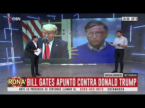 Bill Gates apuntó contra Donald Trump
