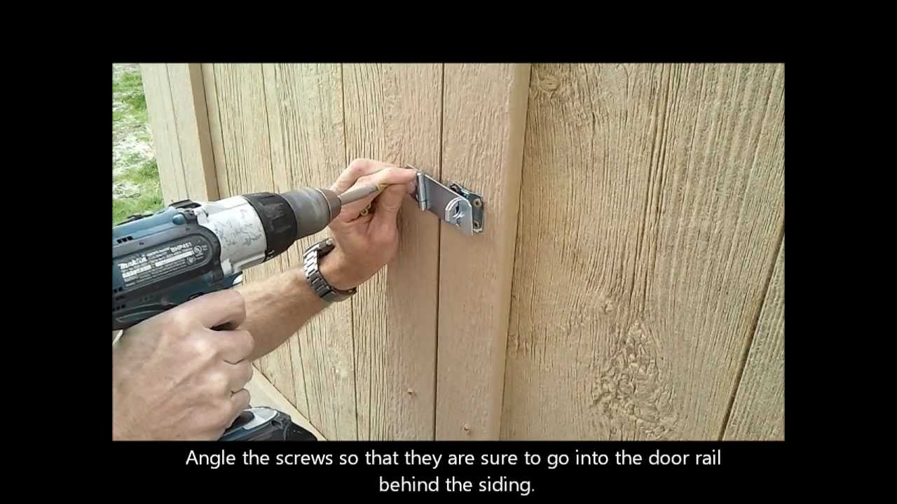 9 Installing Shed Door Hardware How To Build A Generator