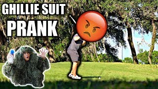GHILLIE SUIT GOLF COURSE AIR HORN PRANK**BEHIND THE SCENES**