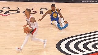 Damian Lillard Murders Alfonzo McKinnie's Ankles With Ankle Breaker Crossover In Game 4!