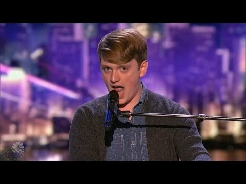 America's Got Talent 2016 Ryan Beard Comedic Singer Full Judge Cuts Clips S11E10