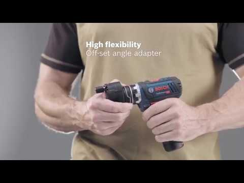 Bosch GSR12V-15 FC 12v Cordless Flexi Click Drill Driver C/W 4 Chucks
