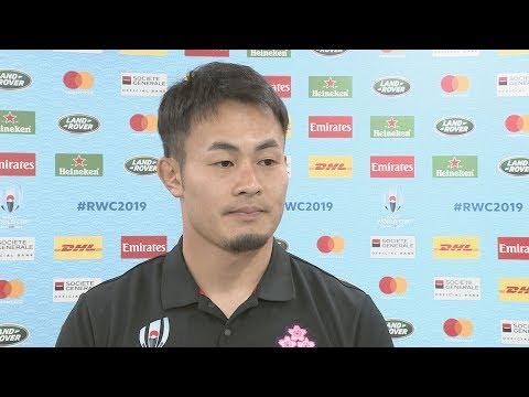 ラグビーW杯、日本代表談話(9) 1次リーグ、日本-スコットランド