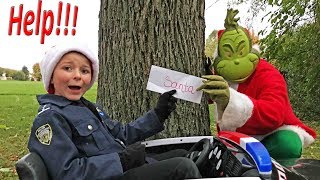 Bad Grinch steals Santas Christmas List a silly funny epic kids video featuring the Assistant