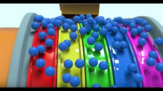 Learn Colors Song with Truck and Colorful Balls   Mino