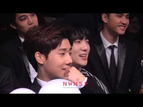 141203 - Sunggyu reaction to Gookju and Seho's performance