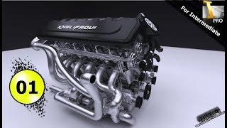 Autodesk Inventor tutorial   V12 engine | Ep 01  Full HD 😍