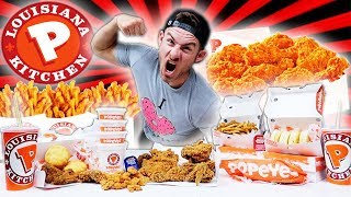 THE SUPERCHARGED POPEYES MENU CHALLENGE! (10,000+ CALORIES)