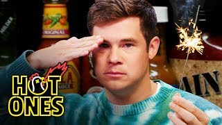 Adam Devine Gets Patriotic While Eating Spicy Wings | Hot Ones