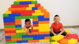 GIANT Color Toy Building Blocks House Pretend Play Fun With CKN Toys