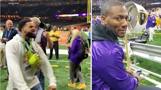 Odell Beckham Jr HYPED Ryan Clark CRIES After LSU Wins National Championship Over Clemson