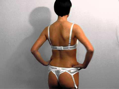 Angelis plunge bra, thong & suspenders SS11