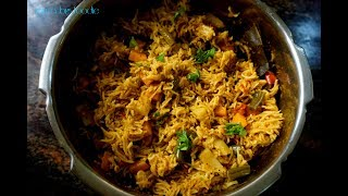 My Cooking My Style- Simple Veg Biryani.!