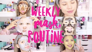 WEEKLY MASK ROUTINE FOR ACNE SKIN || VERONICA ONG