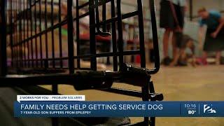 Help 7-year-old Braxton Kinsey get a seizure alert dog