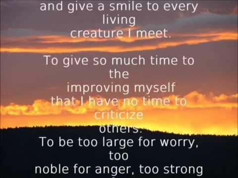 The Optimist Creed - Christian D. Larson
