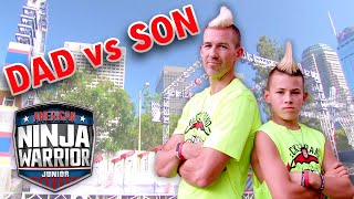 Beckstrand Mohawk Ninja DAD VS. SON | American Ninja Warrior Junior | Universal Kids