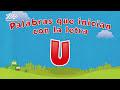 Palabras que inician con la letra U en español para niños - Videos Aprende