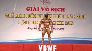 Chung kết hạng cân 75kg - Giải vô địch thể hình toàn quốc 2015 - phần biểu diễn trên nền nhạc