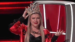 The Voice USA | FUNNY Kelly Clarkson reactions to being picked by contestants