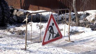 Прорвало трубу: из-за коммунальной аварии в ледяной западне оказались несколько домов