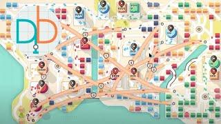 Mini Motorways - Los Angeles (8800+ Trips)