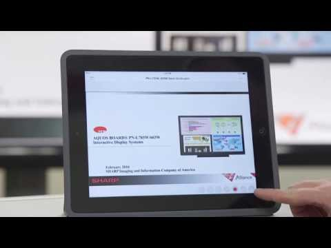 SHARP AQUOS BOARD® How to Connect Mobile Devices to the Wireless PN-L603W PN-L703W