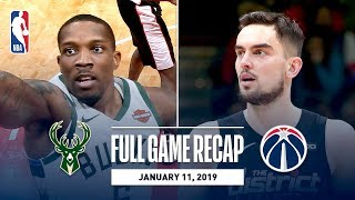 Full Game Recap: Bucks vs Wizards | Tomas Satoransky Records 1st Career Triple-Double