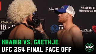 UFC 254 Khabib Nurmagomedov vs. Justin Gaethje Final Face Off