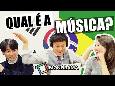 Coreanos cantando em português! ft. Monorama
