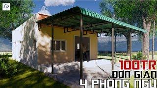 Mẫu Nhà cấp 4 Đơn giản 4 Phòng ngủ giá rẻ nhất Thế giới 100 triệu   Simple house
