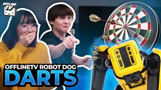 ROBOT DOG DARTBOARD - OFFLINETV PLAYS DARTS ft. Pokimane Michael Reeves Scarra LilyPichu Yvonnie