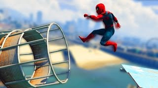 ULTIMATE SPIDERMAN DEATHRUN! (GTA 5 Mods Funny Moments) - Music Videos