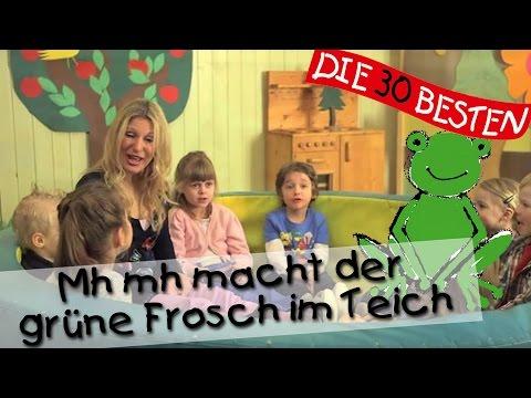 Mh mh macht der grüne Frosch im Teich