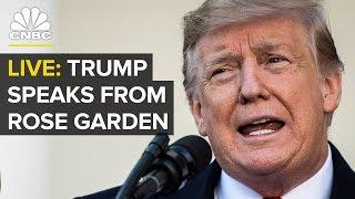 LIVE: President Trump speaks from White House Rose Garden — Friday, Feb. 15 2019