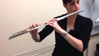 Testing my student's new custom Gemeinhardt student flute with gold plated keys - thumb
