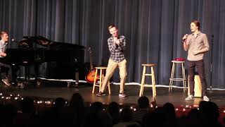High school students sing meme songs at talent show! (All star, Wii song, etc...)
