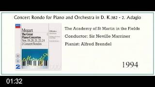Mozart | Concert Rondo for Piano & Orchestra in D,  K 382:  2  Adagio (clip)