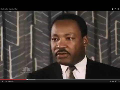 Martin Luther King's Last Day