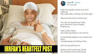 Emotional Irrfan Khan posted a HEARTFELT poem on his healt..