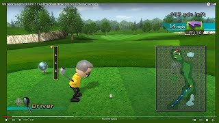 Wii Sports Golf - DOUBLE EAGLES on all three par 5's in classic 9 holes