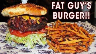 Fat Guy's Giant Burger Challenge in Tulsa, Oklahoma!!
