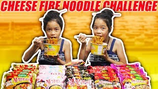 SPICY CHEESE FIRE NOODLE CHALLENGE   Tran Twins