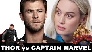 Brie Larson Snaps At Chris Hemsworth on Interview