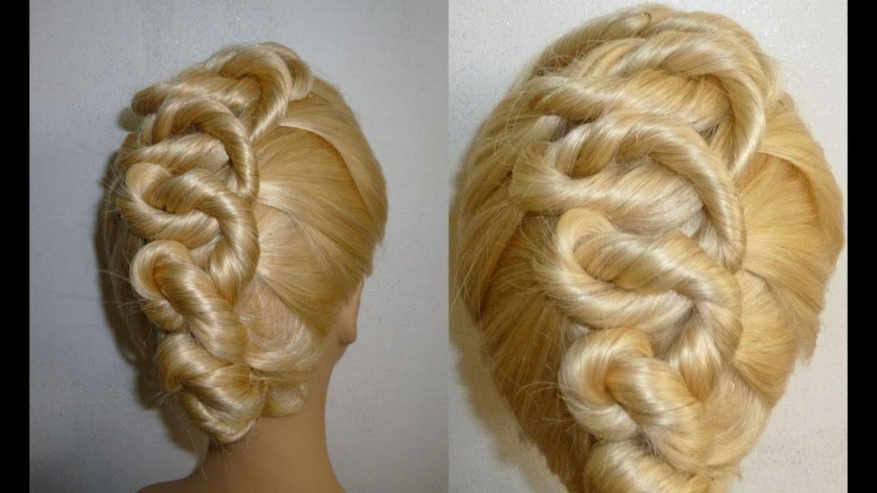 sch ne frisur spiralien zopffrisur ausgehfrisur prom updo hairstyle peinados youtube. Black Bedroom Furniture Sets. Home Design Ideas